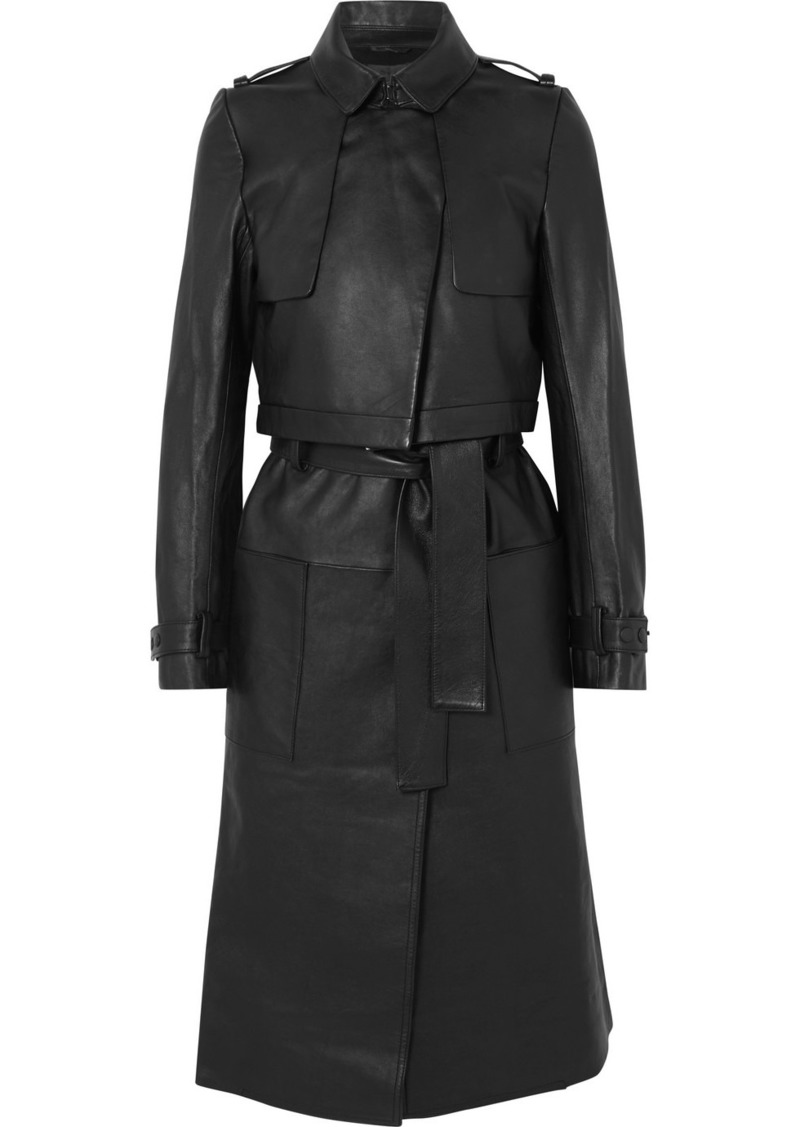 RtA Harlow Leather Trench Coat