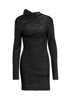 RtA Harper Metallic Velvet Bodycon Dress