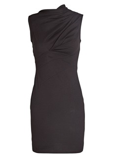 RtA Holly High Neck Cotton Mini Dress