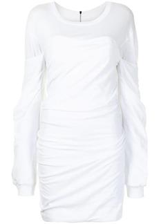 RtA Indya ruched cotton dress