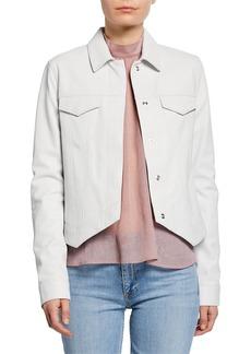 RtA Jack Asymmetrical Leather Jacket