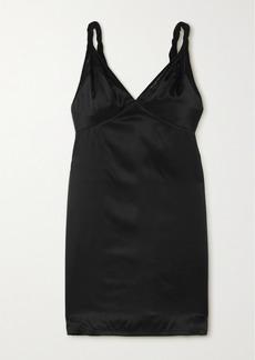 RtA Laura Silk-satin And Stretch-tulle Mini Dress