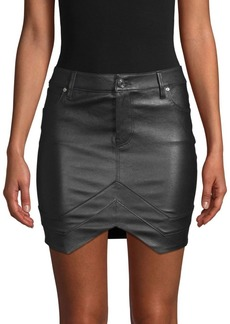RtA Leather Mini Skirt