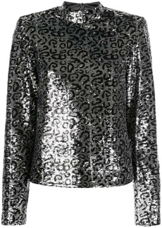RtA leopard-print sequin top