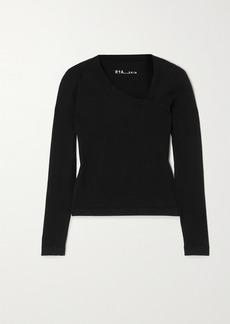 RtA Lise Asymmetric Stretch-cotton Top