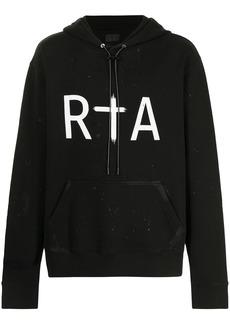 RtA logo-print hoodie