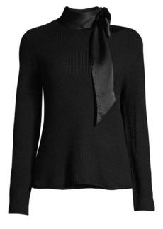 RtA Millie Tie-Neck Cashmere Sweater