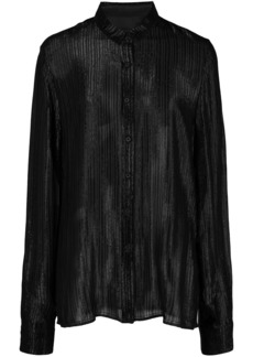 RtA pleated shimmer shirt