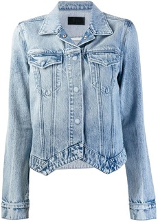 RtA pointed hem denim jacket