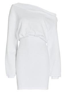 RtA Rachele Off-the-Shoulder Sweatshirt Dress