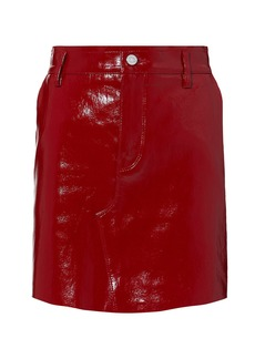 RtA Red Patent Leather Mini Skirt