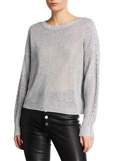 RtA Rhys Crewneck Pullover Sweater