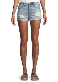 RtA Ace Distressed Cutoff Denim Shorts