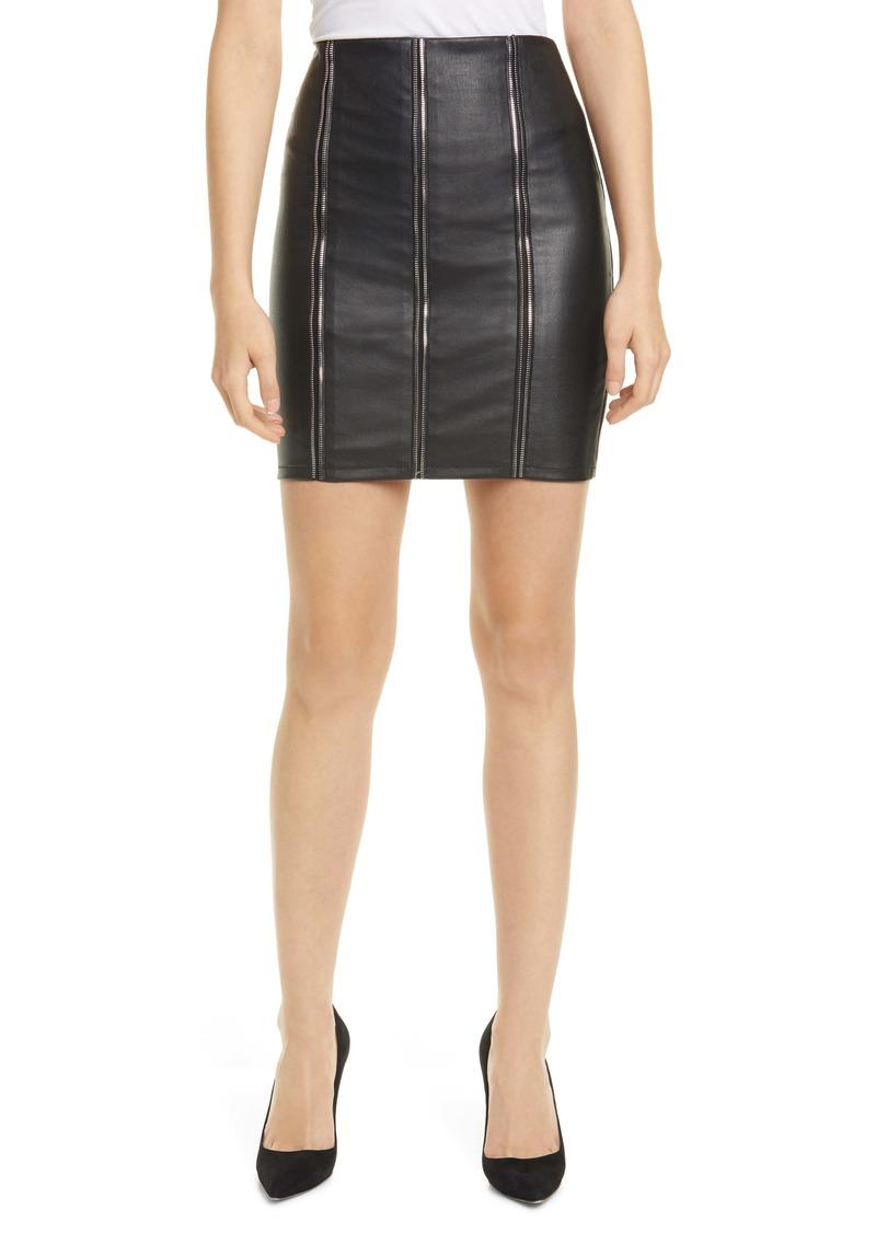 RtA Amelie Zip Detail Leather Miniskirt