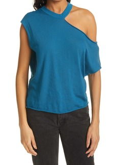 RtA Axel Exposed Shoulder Cotton & Cashmere Top
