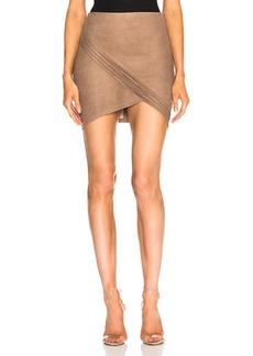 RtA Blossom Leather Skirt