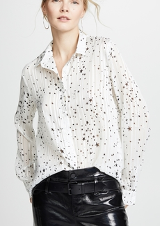 ad56a20e6d12 RtA Yvonne Button-Down Leopard-Print Silk Blouse | Casual Shirts