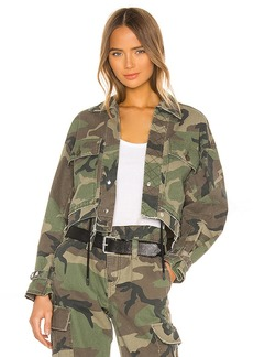RtA Carlita Cropped Military Jacket
