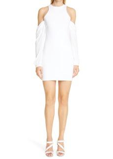 RtA Casey Cold Shoulder Long Sleeve Minidress