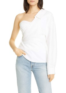 RtA Chiara One-Shoulder Corset Shirt