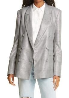 RtA Connie Silk Tuxedo Button Up Shirt