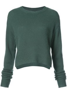 Rta crop cable sweater - Green