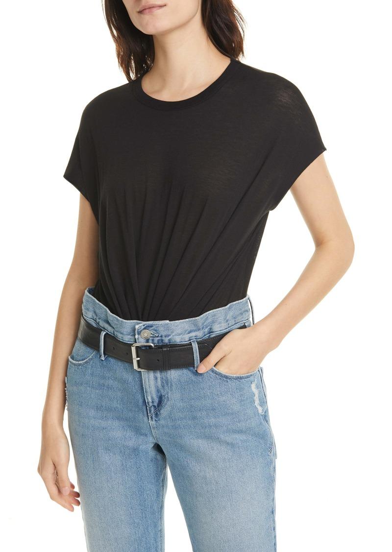RtA Denim Halle Cotton & Cashmere Bodysuit