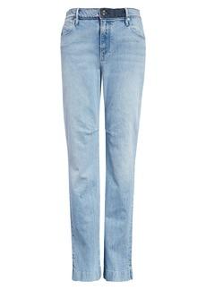 RtA Derek High Waist Split Hem Nonstretch Straight Leg Jeans (Vivid Blue)