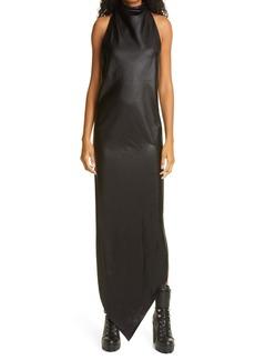 RtA Drew Asymmetrical Faux Leather Halter Dress