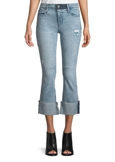 RtA Duchess Mid-Rise Flared-Leg Jeans with Cuff