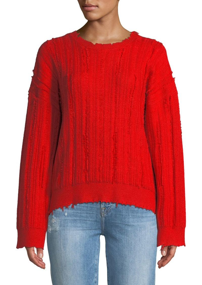 RtA Emmet Distressed Crewneck Sweater