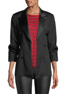 RtA Grayson Open-Front Wool Blazer