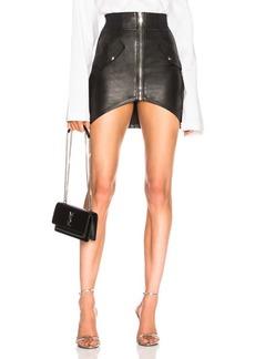 RtA Isla Leather Skirt