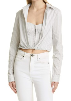 RtA Ludovica Crop Button-Up Shirt