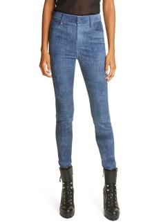 RtA Madrid Denim Look Leather Pants