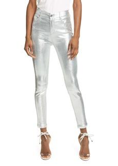 RtA Madrid Metallic Leather Skinny Pants