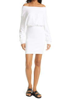 RtA Rachele Off the Shoulder Long Sleeve Knit Dress