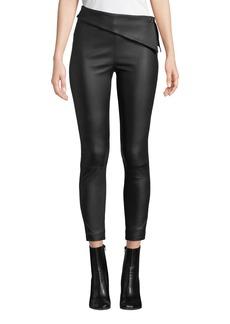 RtA Rumer Leather Fold-Over Leggings