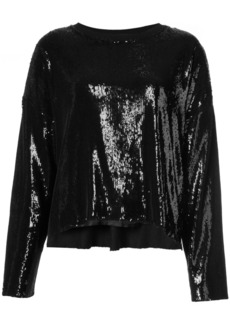 Rta sequin long-sleeve top - Black