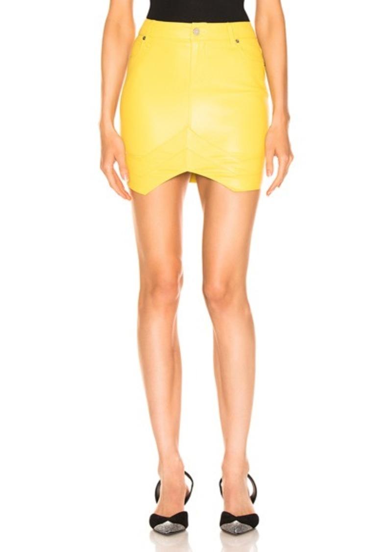 RtA Tempest Leather Skirt