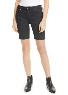 RtA Toure Metallic Coated Denim Shorts (Zodiac Black)