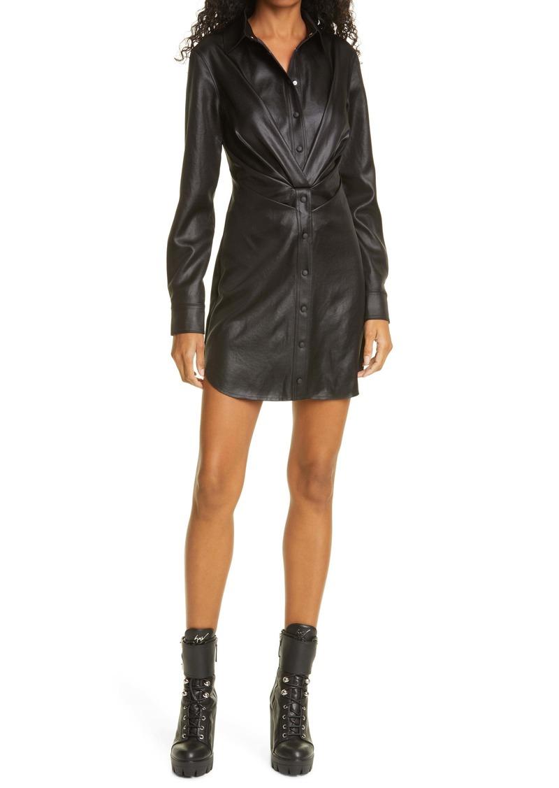 RtA Vivienne Faux Leather Long Sleeve Minidress