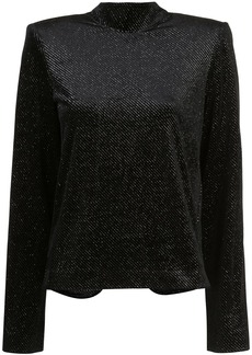 RtA glittery mock-neck top