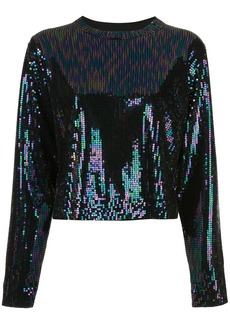 RtA sequin embroidered top