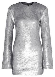 Rta Woman Carringthon Sequined Cotton-blend Mini Dress Silver