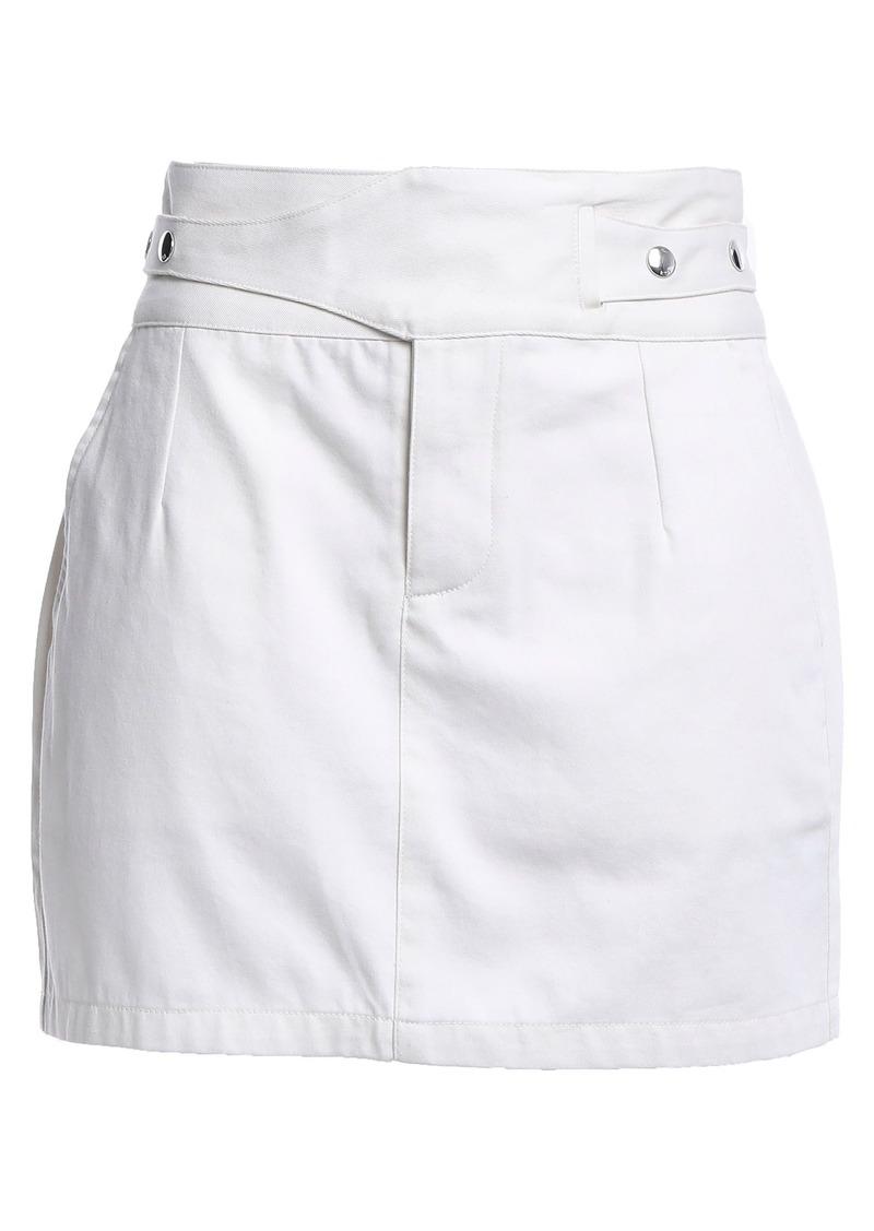 Rta Woman Cotton-twill Mini Skirt Ecru