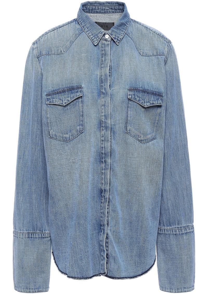 Rta Woman Cybil Denim Shirt Mid Denim