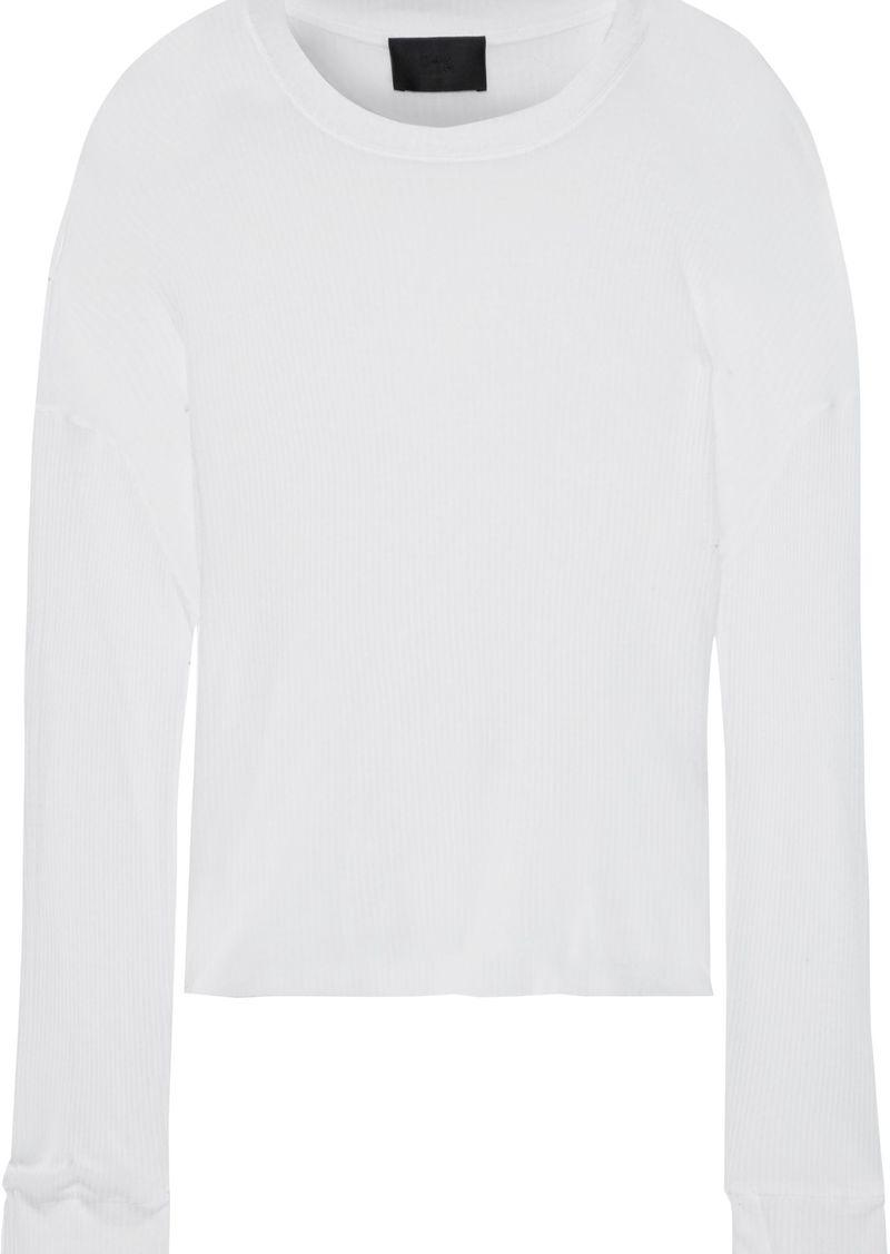 Rta Woman Emmet Boxy Ribbed-knit Top White