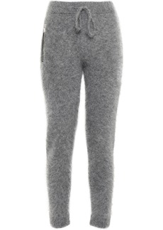 Rta Woman Mohair And Wool-blend Track Pants Gray