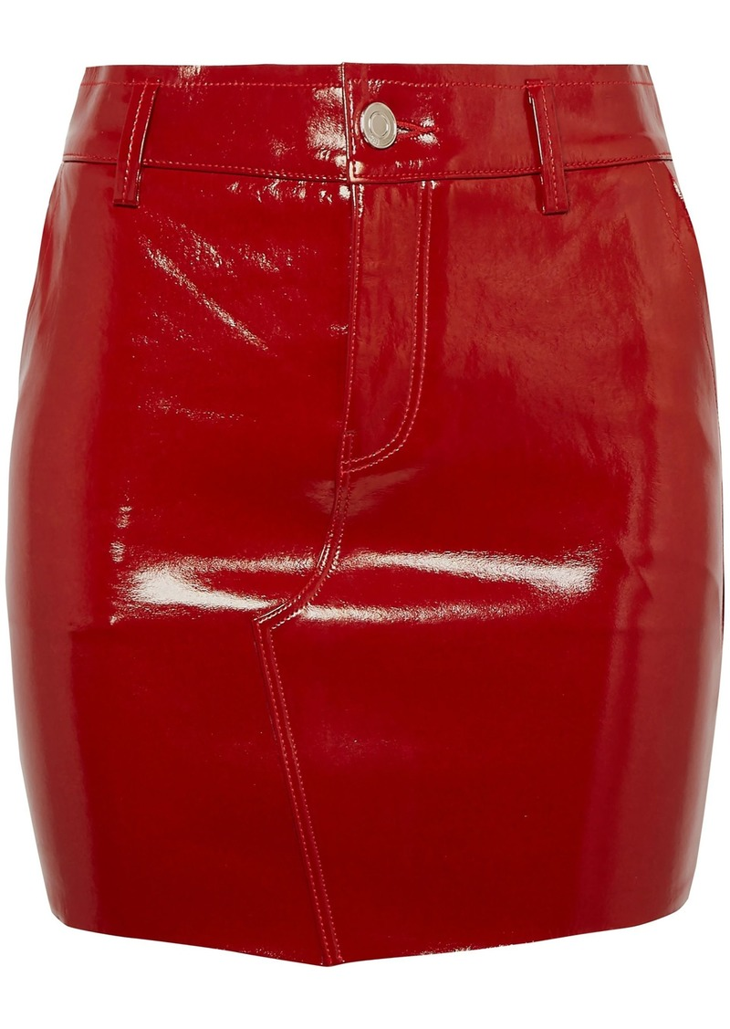 Rta Woman Patent-leather Mini Skirt Red